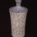 2007 吹泥金彩幾何文瓶