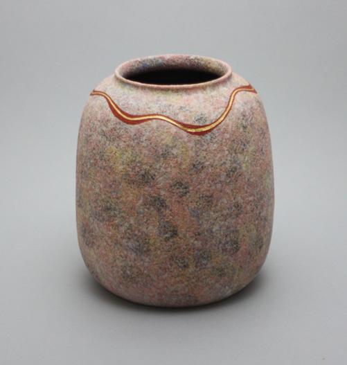 2009 吹泥金桜彩花器