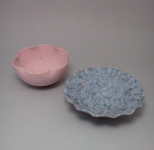 吹泥金桜彩輪花鉢