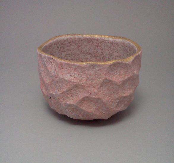 2011 吹泥金桜彩茶碗